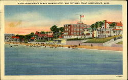Point Independence Beach Showing Hotel And Cottages, Point Independence, Mass