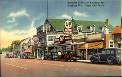 Business District at Buzzards Bay, Looking West, Cape Cod, Mass