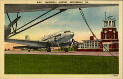 Municipal Airpors Postcard