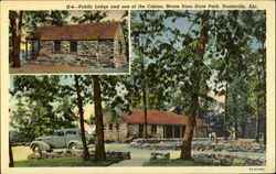 Public Lodge, and one of the Cabins, Monte Sano State Park