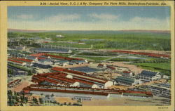 Aerial View, T. C. I & Ry. Company Tin Plate Mills Postcard