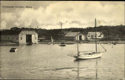Boats and Boat Sheds - Falmouth Harbor
