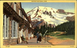 Rainier National Park, The Mountain from Paradies Lodge