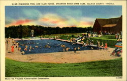 N235:- Swimming Pool and Club House, Staunton River State Park, Halifax County, Virginia