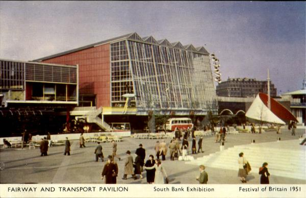 Fairway and Transport Pavilion - South Bank Exhibition London England