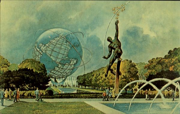 Plaza of the Astronauts - The Rocket Thrower New York