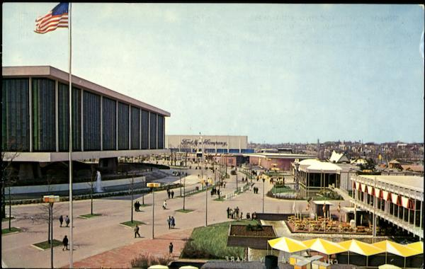 Kennedy Circle Looking Southwest 1964 NY Worlds Fair