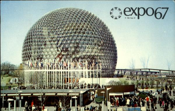 Expo 67 The Pavilion of the United States Montreal Canada