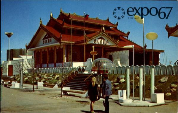 Expo 67- The Pavilion of Burma Montreal Canada Misc. Canada