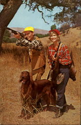 Man and Woman Pheasant Hunting