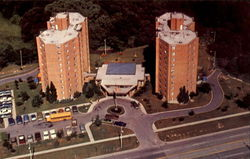 Twin Towers Senior Housing Complex Postcard