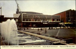 FairwayFountains and Transport Pavilion South Bank Exhibition Festival of Britain 1951 Postcard