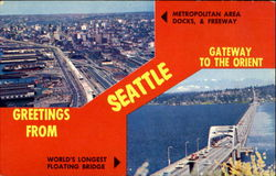 Greetings from Seattle Gateway to the Orient Postcard