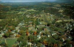 Aerial View of Lyndonville, Vermont