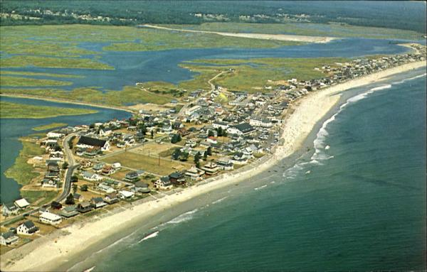 Aerial View of beach area Wells Maine