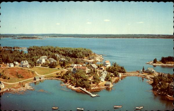Air View of Christmas Cove, Maine