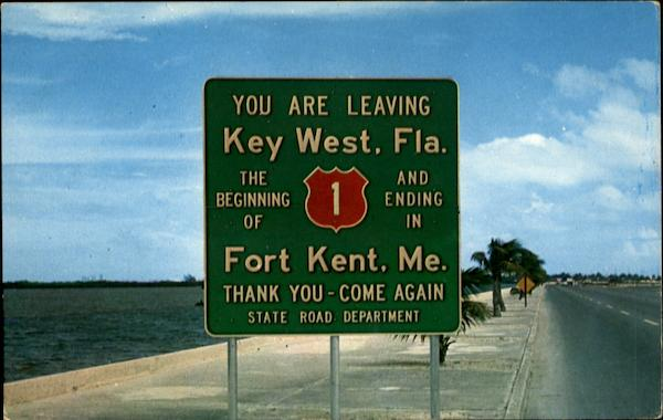 You are leaving Key West, Fla Florida