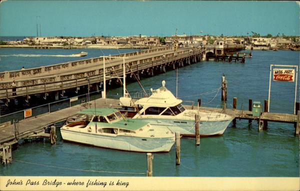 John's Pass Bridge - where fishing is king St. Petersburg Florida
