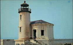 Old Lighthouse on Oregon Coast Postcard