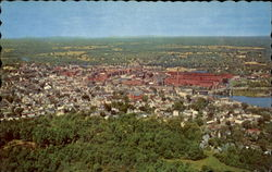 Aerial View of Biddeford-Saco, Maine