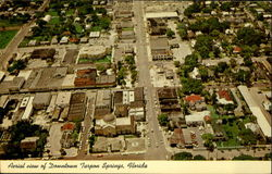 Aerial view of Downtown Tarpon Springs, Florida