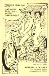 Pedaling your way with National Post Card Week Greetings