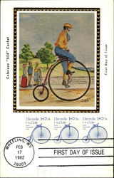 Man on Penny-farthing High Wheel Bicycle
