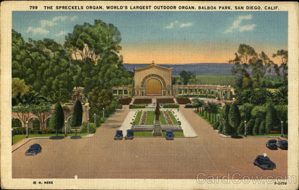 The Spreckels Organ, World's Largest Outdoor Organ, Balboa Park San Diego California
