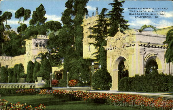 House of Hospitality and War Memorial Building, Balboa Park San Diego California