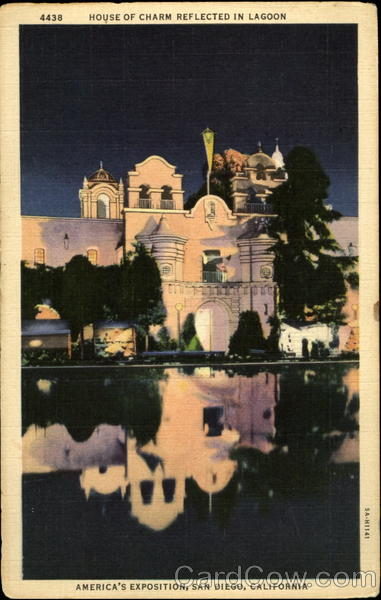 House of Charm Reflected in Lagoon, America's Exposition San Diego California