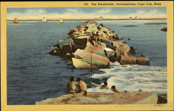 The Breakwater, Provincetown Cape Cod Massachusetts