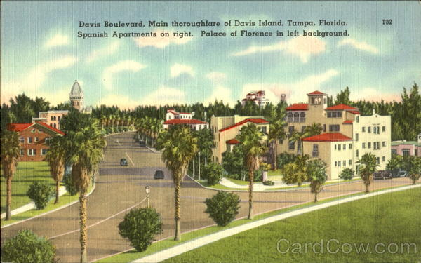 Davis Boulevard, Main thoroughfare of Davis Island Tampa Florida