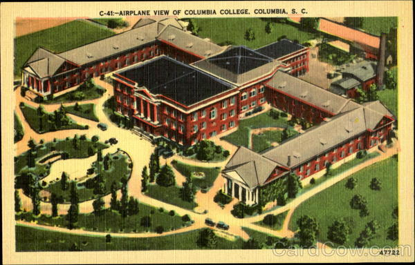 Airplane View of Colubia College Columbia South Carolina