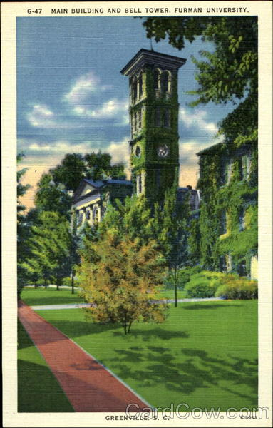 Main Building and Bell Tower, Furman University Greenville South Carolina