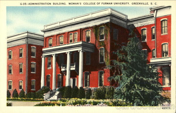 Administration Building. Woman's College of Furman University Greenville South Carolina