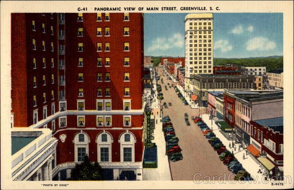 Panoramic View of Main Street Greenville South Carolina