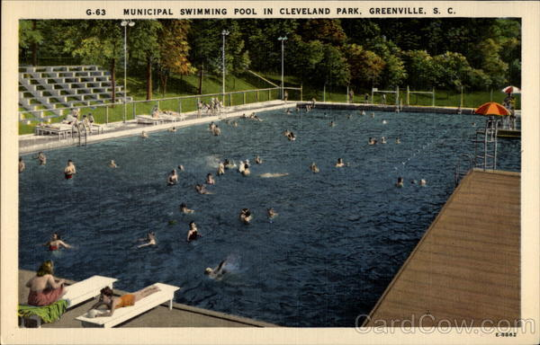 G-63 Municipal Swimming Pool in Cleveland Park, Greenville, S.C South Carolina