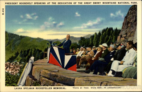 President Roosevelt Speaking at the Dedication of the Great Smoky Mountains National Park North Carolina