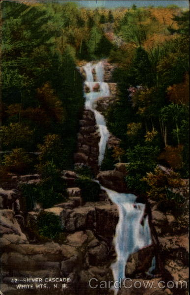 42 - Silver Cascade, White Mts, N.H White Mountains New Hampshire