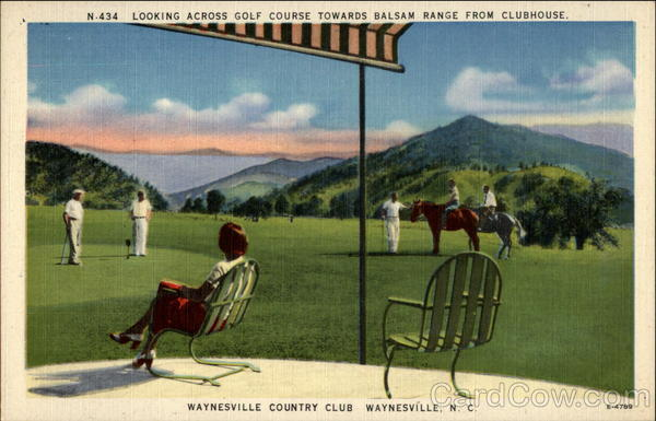 Looking across golf course towards Balsam Range from Clubhouse Waynesville North Carolina