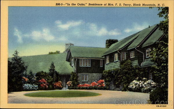 In the Oaks, Residence of Mrs. F.S. Terry Black Mountain North Carolina