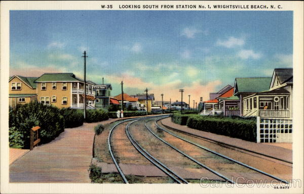 Looking South from Station No. 1 Wrightsville Beach North Carolina