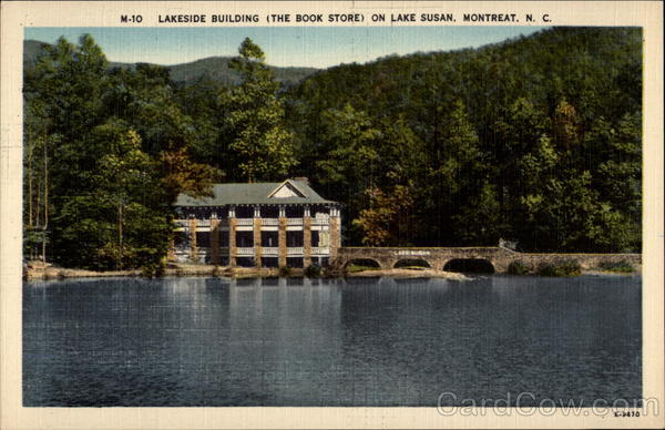 Lakeside Building ( The Book Store ) on Lake Susan Montreat North Carolina