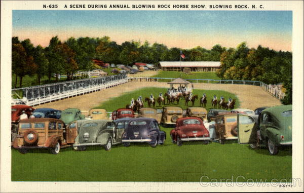 A Scene During Annual Blowing Rock Horse Show North Carolina