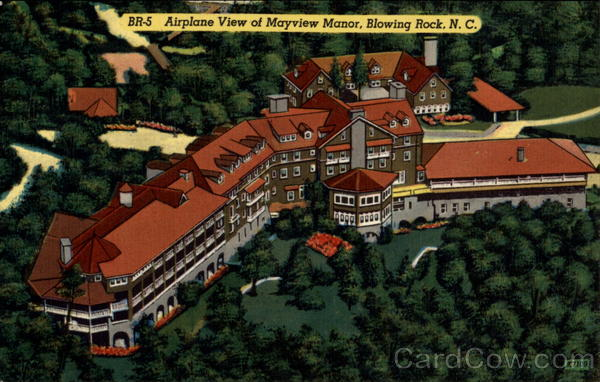 Airplane View of Mayview Manor Blowing Rock North Carolina