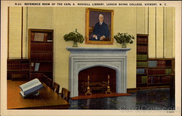 Refernce Room of the Carl A. Rusisill Library, Lenoir Rhyne College Hickory North Carolina