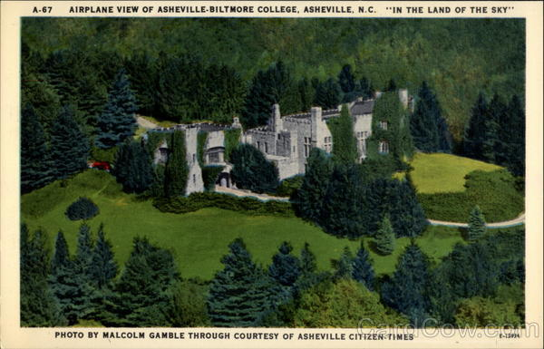 Airplane View of Asheville-Biltmore College North Carolina