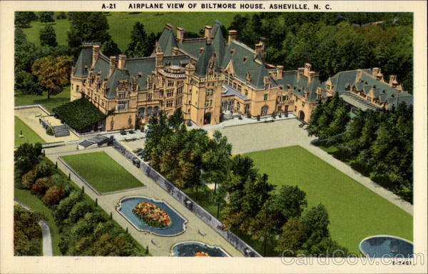 Airplane view of Biltmore House Asheville North Carolina