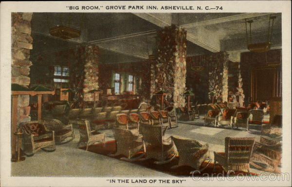 Big Room, Grove Park Inn, Asheville, N.C.--74 In the Land of the Sky North Carolina