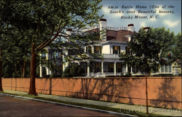 Battle Home (One of the South's most Beautiful houses), Rocky Mount, N. C North Carolina